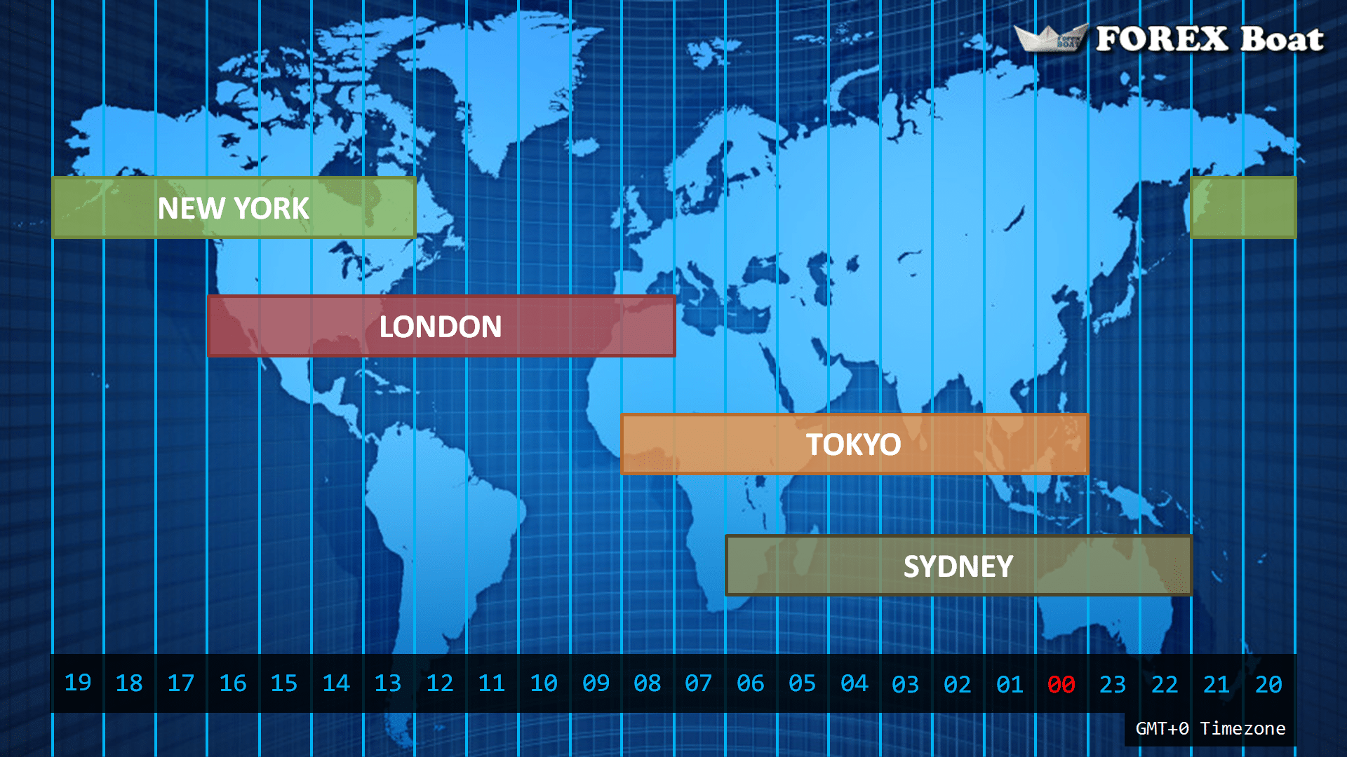 Forex Market Hours Free World Map Showing Timezone