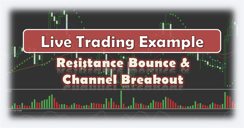 Forex Resistance Bounce & Channel Breakout - Live Forex Trading Example